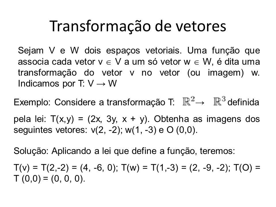 Transformação de vetores