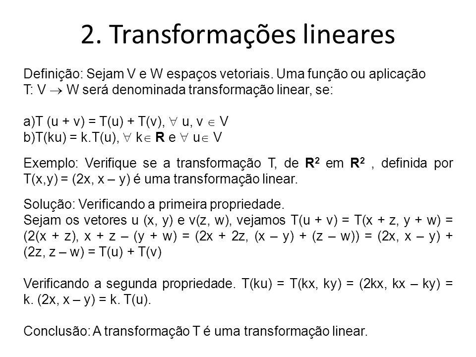 2. Transformações lineares