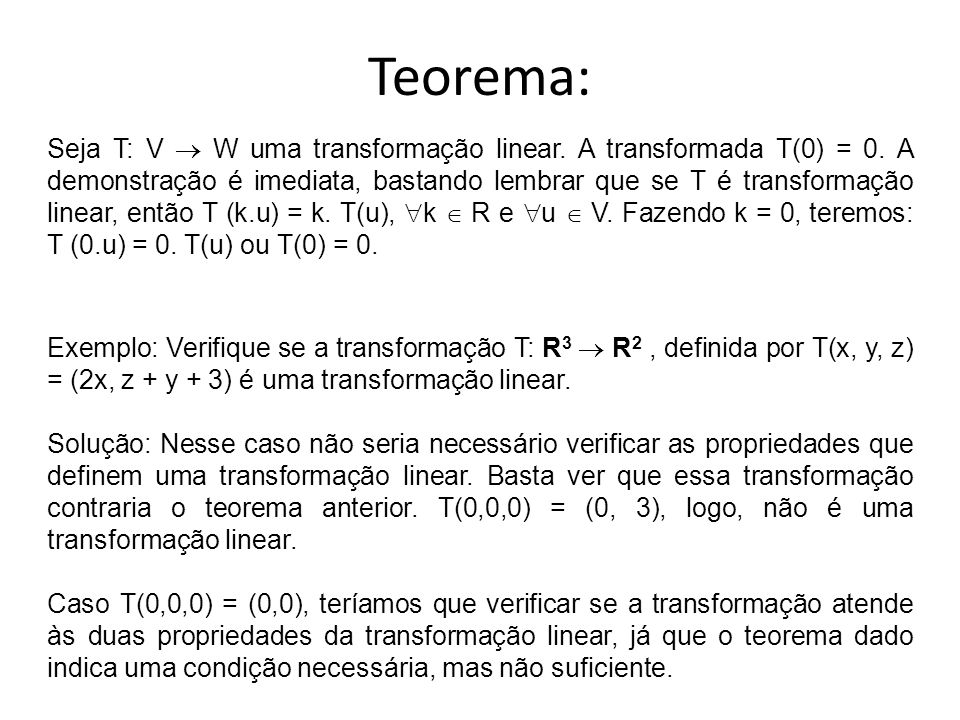 Teorema: