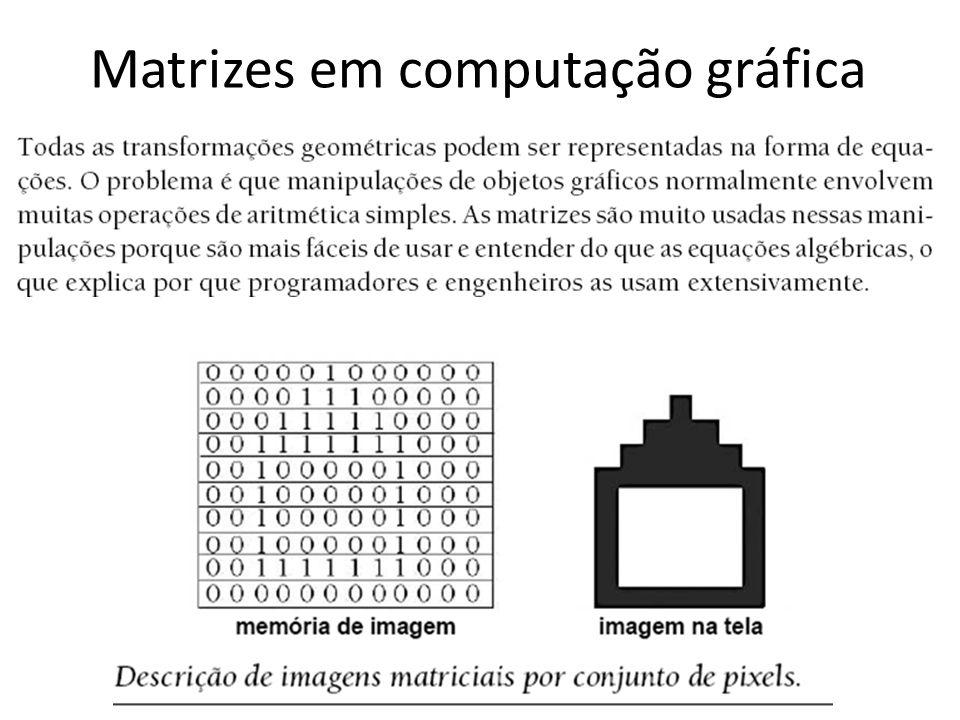 Matrizes em computação gráfica