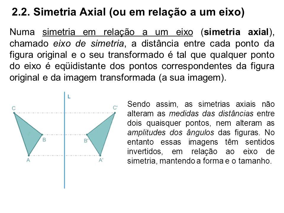 2.2. Simetria Axial (ou em relação a um eixo)