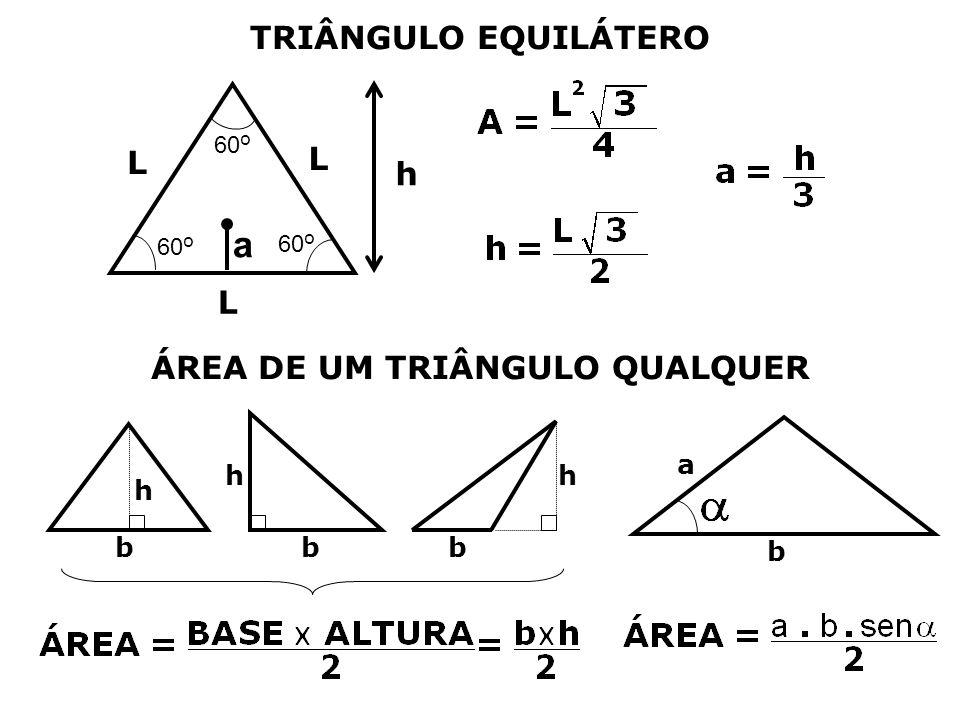 ÁREA DE UM TRIÂNGULO QUALQUER