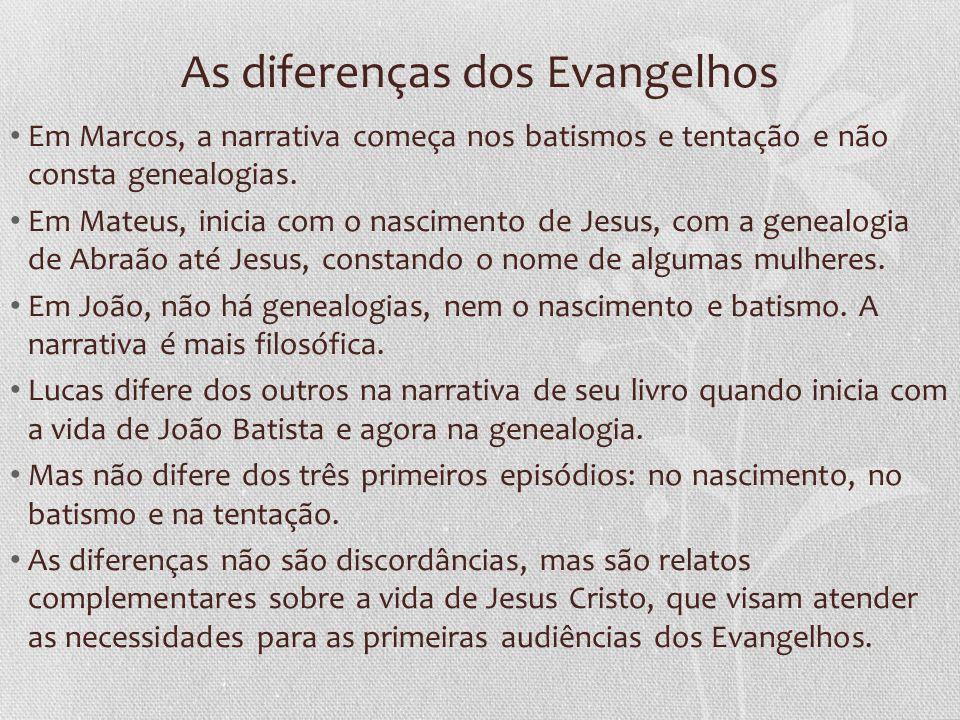 As diferenças dos Evangelhos