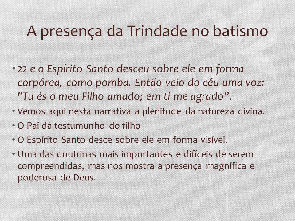 A presença da Trindade no batismo