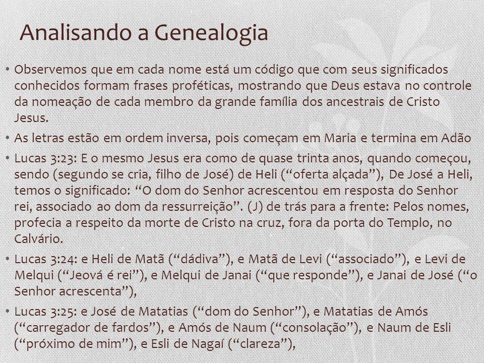Analisando a Genealogia