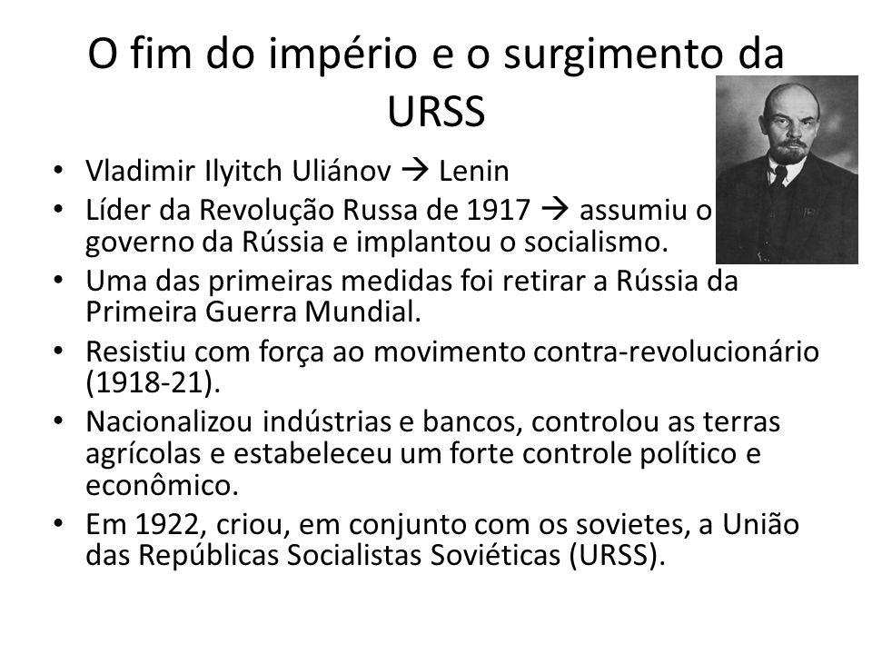 O fim do império e o surgimento da URSS