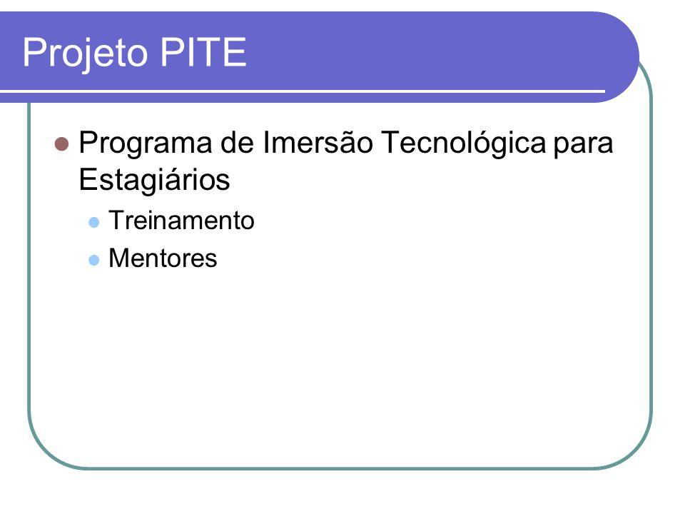 Projeto PITE Programa de Imersão Tecnológica para Estagiários
