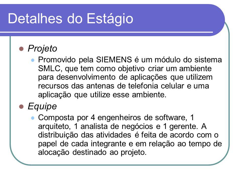 Detalhes do Estágio Projeto Equipe