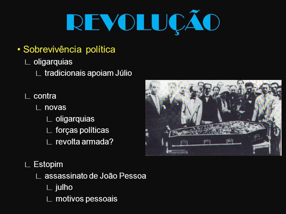 REVOLUÇÃO • Sobrevivência política ∟ oligarquias