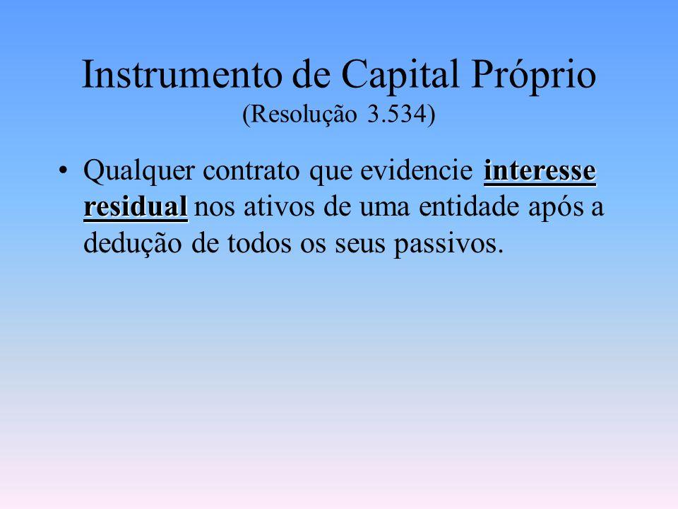 Instrumento de Capital Próprio (Resolução 3.534)