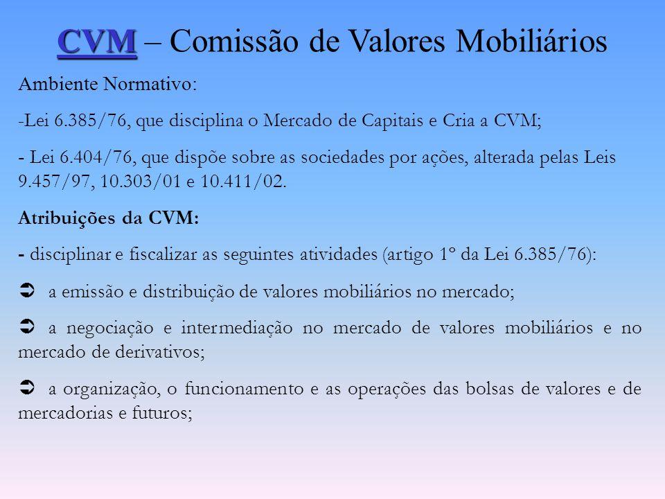 CVM – Comissão de Valores Mobiliários