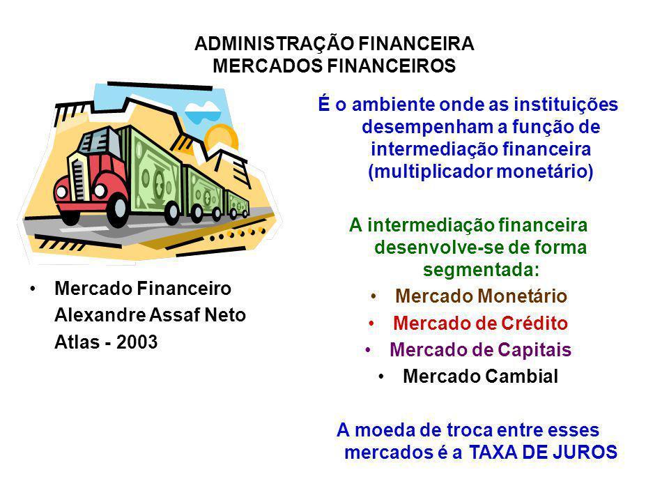 A intermediação financeira desenvolve-se de forma segmentada: