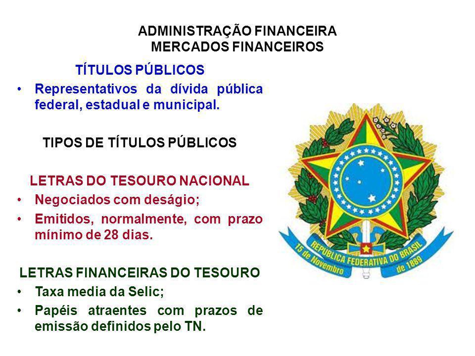 Representativos da dívida pública federal, estadual e municipal.