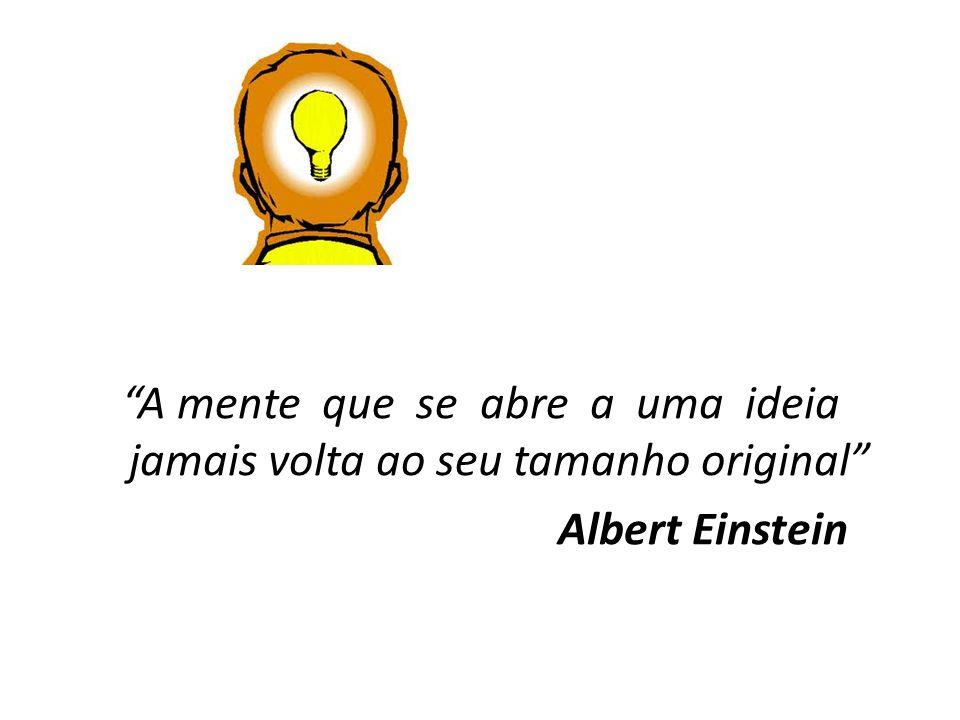A mente que se abre a uma ideia jamais volta ao seu tamanho original