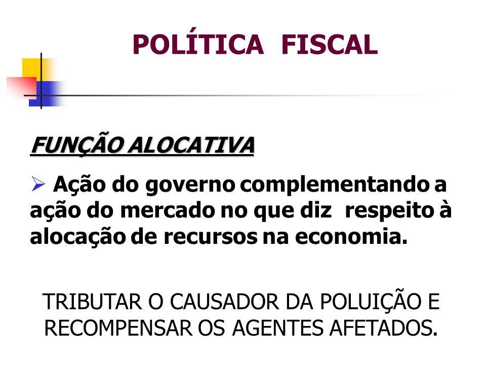 TRIBUTAR O CAUSADOR DA POLUIÇÃO E RECOMPENSAR OS AGENTES AFETADOS.