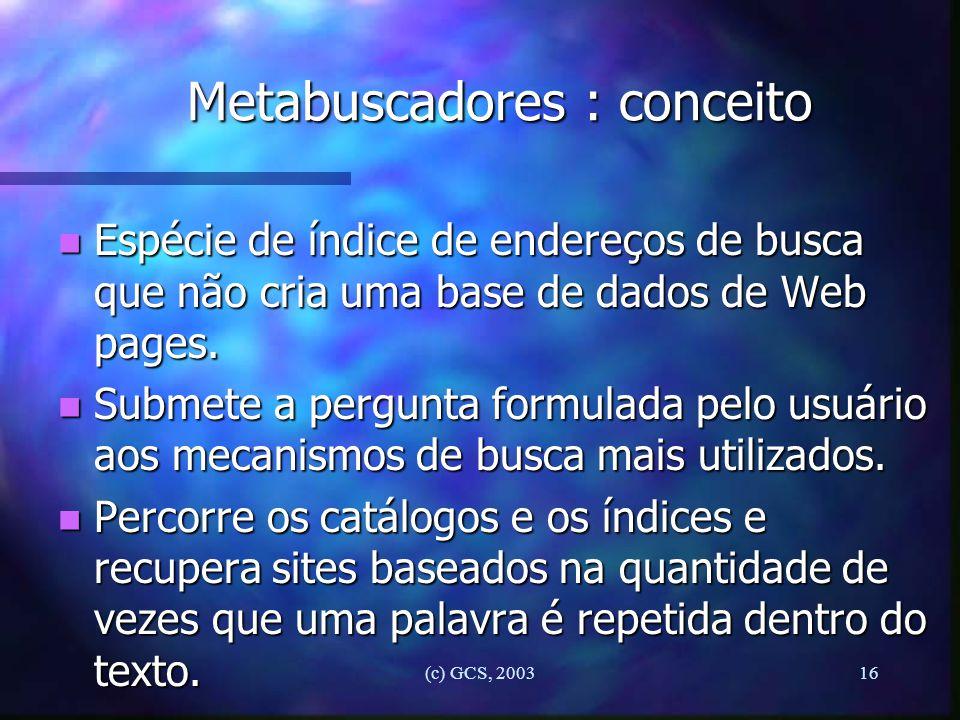 Metabuscadores : conceito