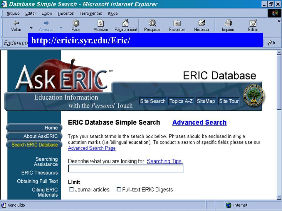 http://ericir.syr.edu/Eric/ (c) GCS, 2003