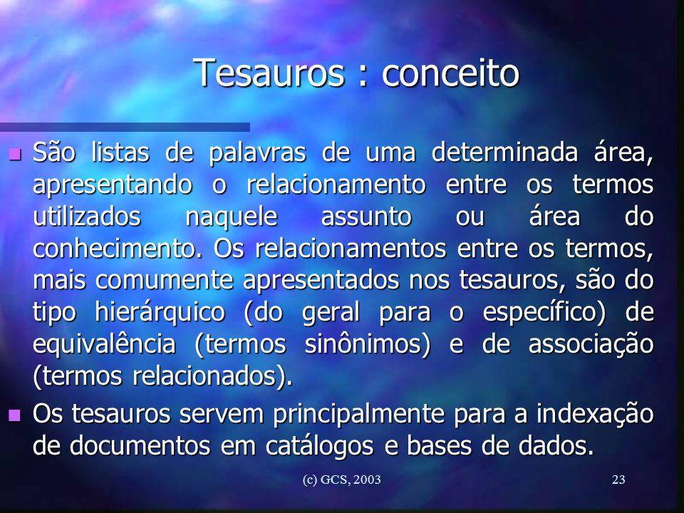 Tesauros : conceito