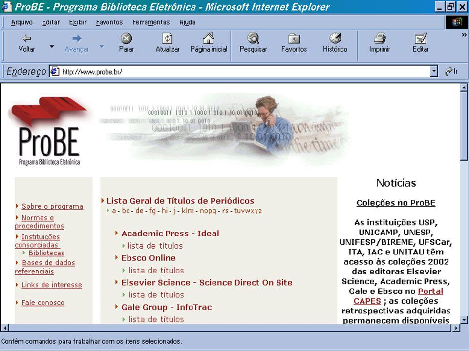ProBE - Programa Biblioteca Eletrônica