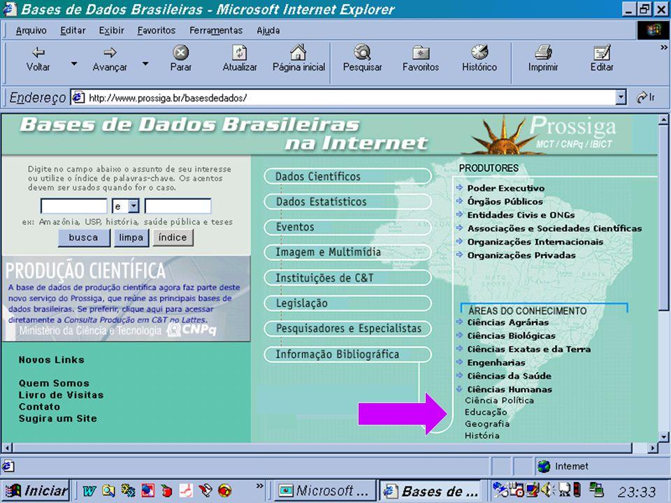 Portal do Prossiga (c) GCS, 2003