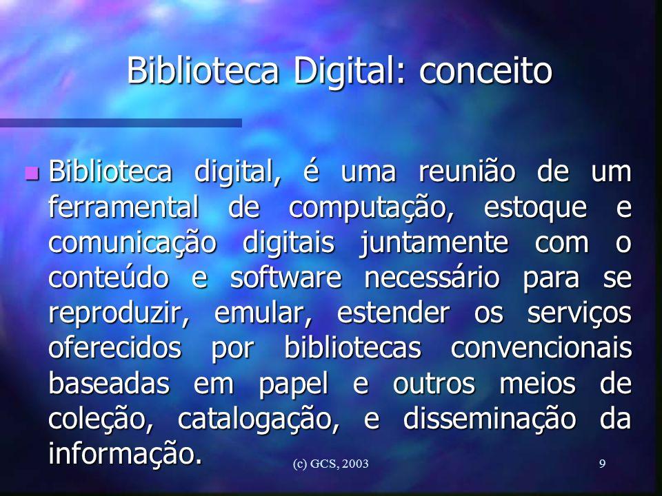 Biblioteca Digital: conceito