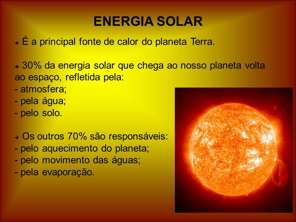 ENERGIA SOLAR É a principal fonte de calor do planeta Terra.