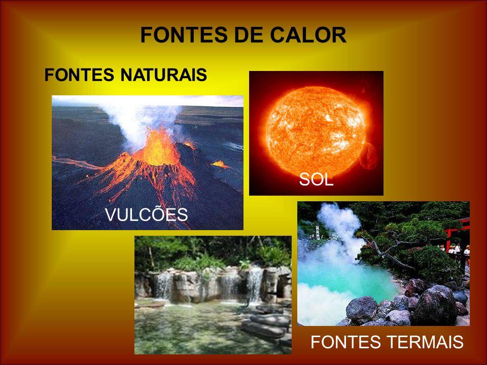 FONTES DE CALOR FONTES NATURAIS SOL VULCÕES FONTES TERMAIS