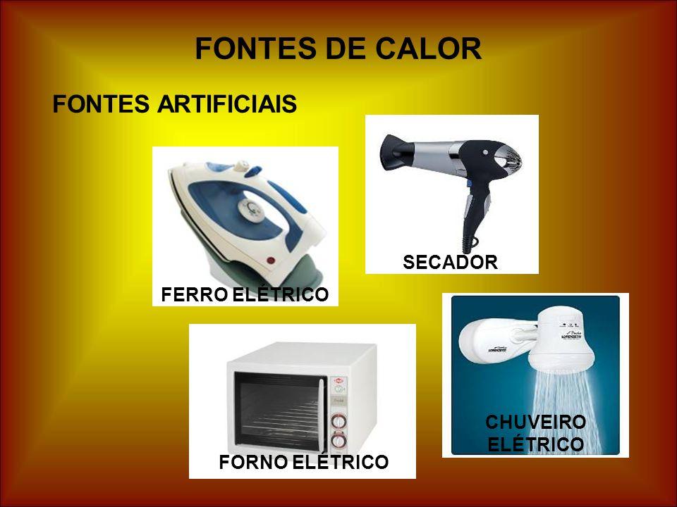 FONTES DE CALOR FONTES ARTIFICIAIS SECADOR FERRO ELÉTRICO