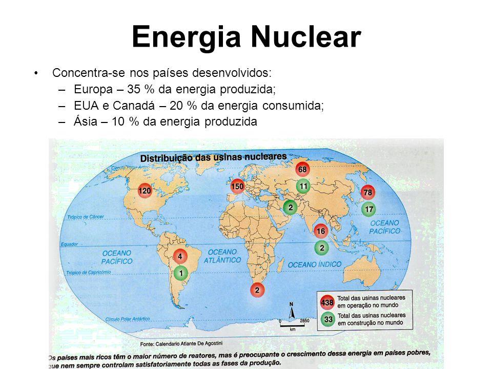 Energia Nuclear Concentra-se nos países desenvolvidos: