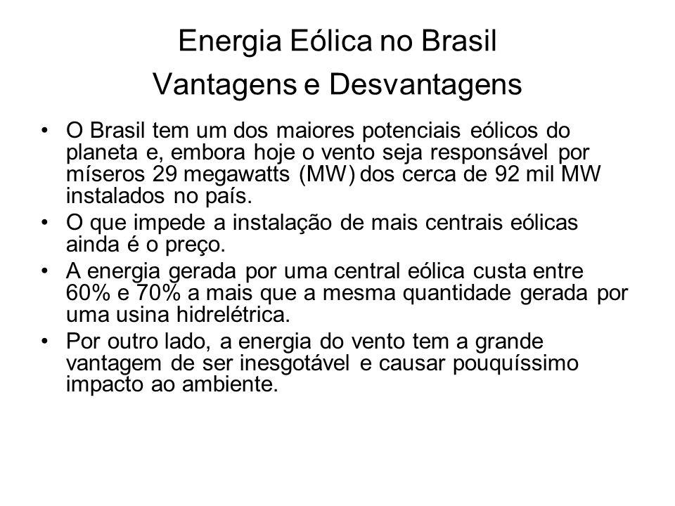 Energia Eólica no Brasil Vantagens e Desvantagens