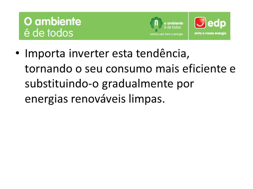 Importa inverter esta tendência, tornando o seu consumo mais eficiente e substituindo-o gradualmente por energias renováveis limpas.