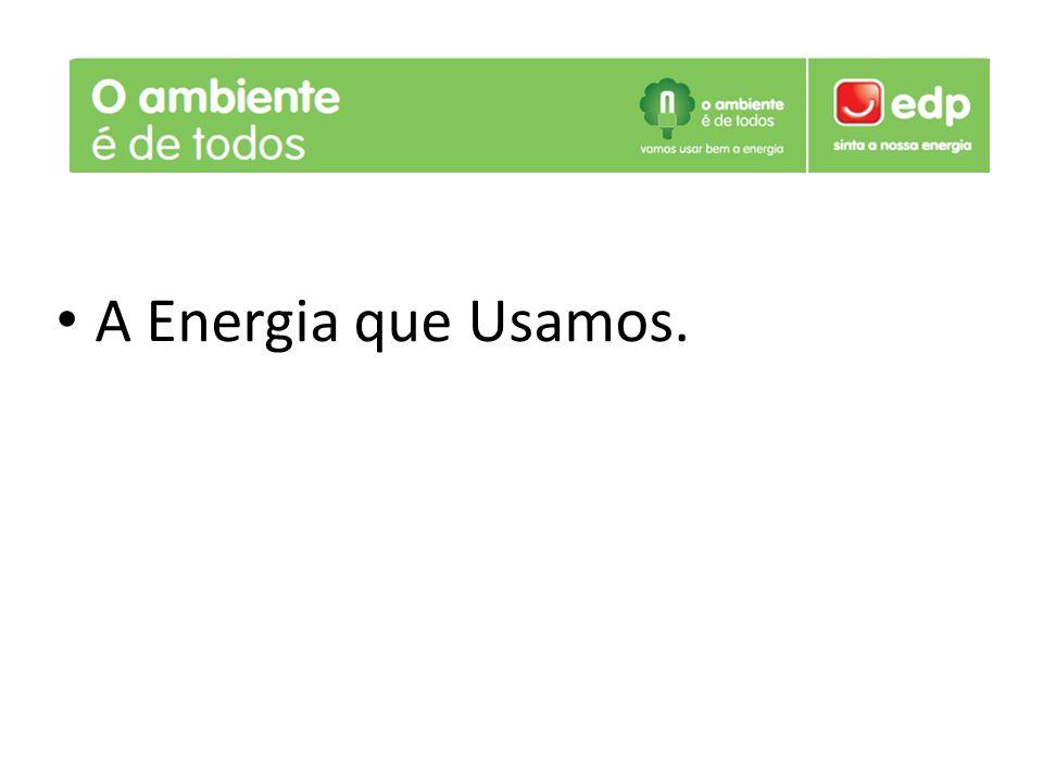 A Energia que Usamos.