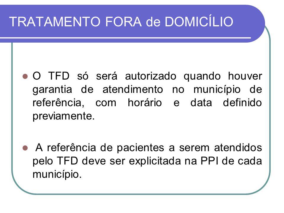 TRATAMENTO FORA de DOMICÍLIO
