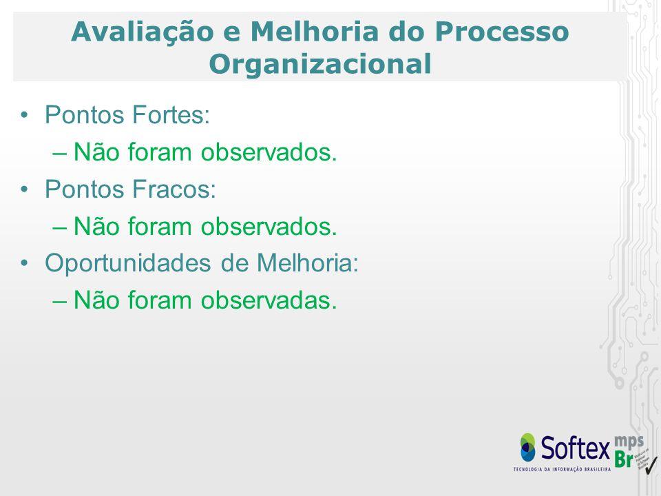 Avaliação e Melhoria do Processo Organizacional