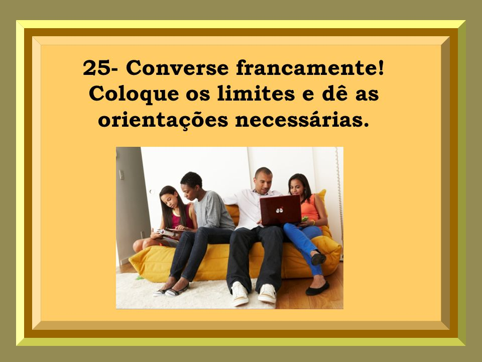 25- Converse francamente