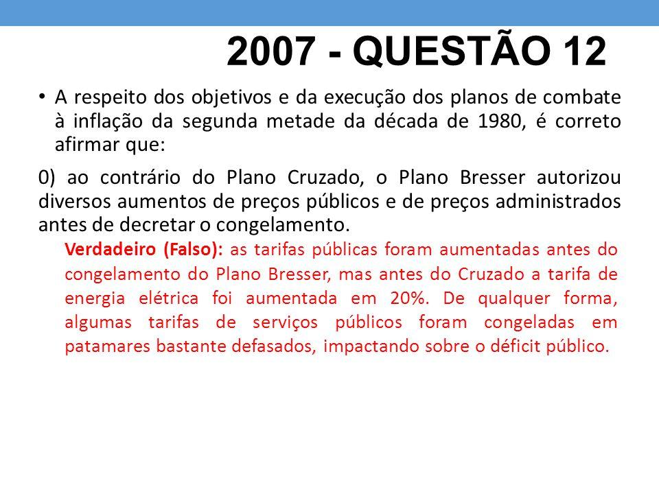 2007 - QUESTÃO 12