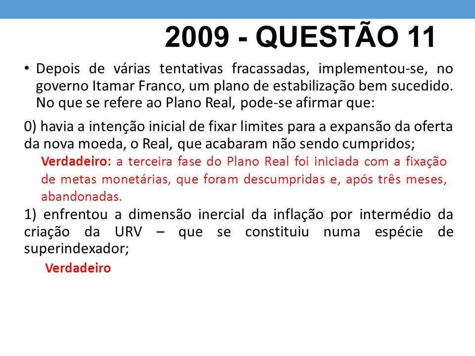 2009 - QUESTÃO 11