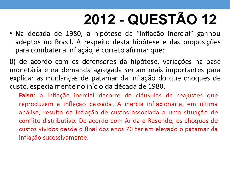 2012 - QUESTÃO 12