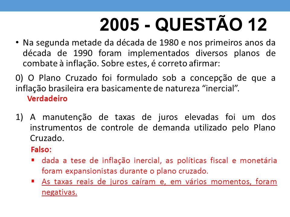 2005 - QUESTÃO 12