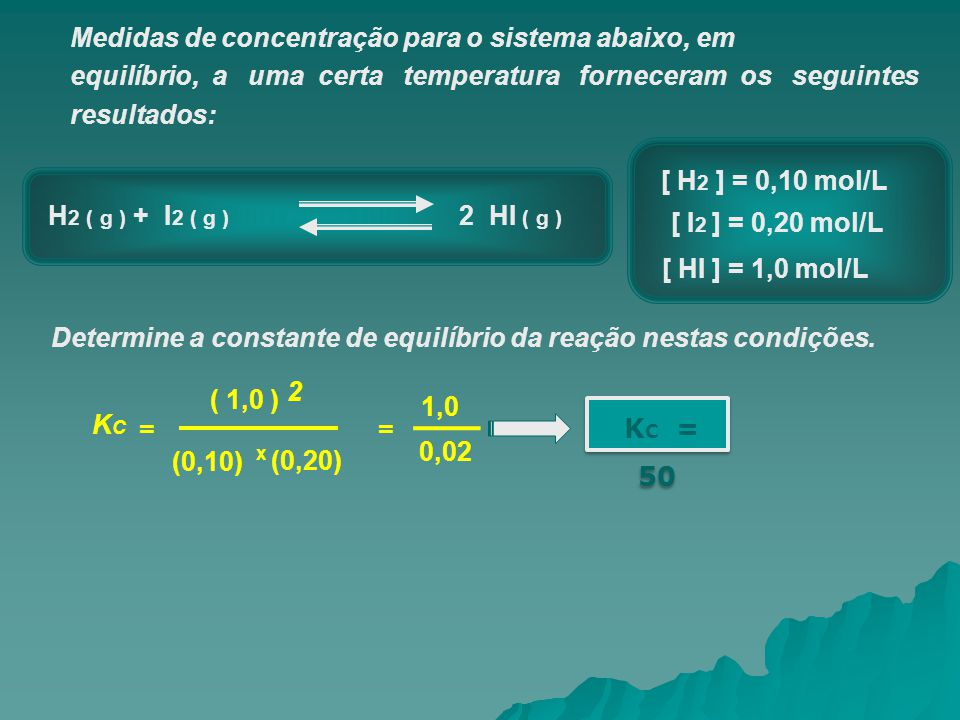 Medidas de concentração para o sistema abaixo, em