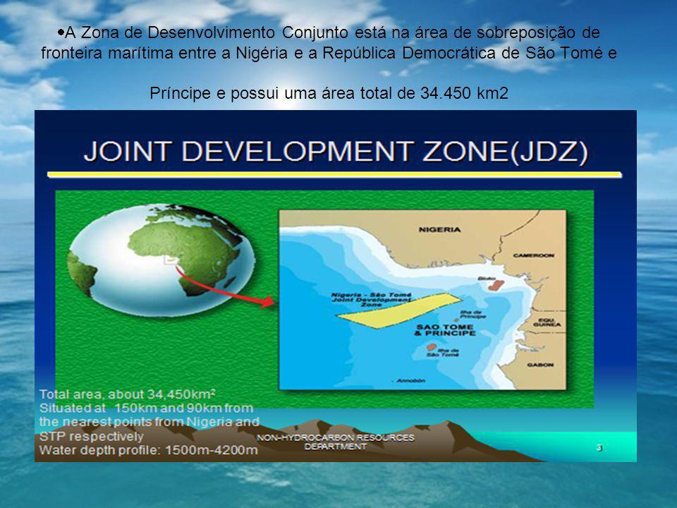 A Zona de Desenvolvimento Conjunto está na área de sobreposição de fronteira marítima entre a Nigéria e a República Democrática de São Tomé e Príncipe e possui uma área total de 34.450 km2