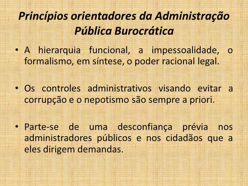 Princípios orientadores da Administração Pública Burocrática