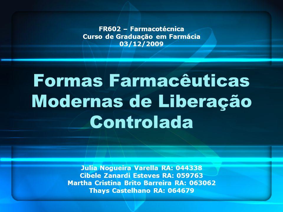 Formas Farmacêuticas Modernas de Liberação Controlada