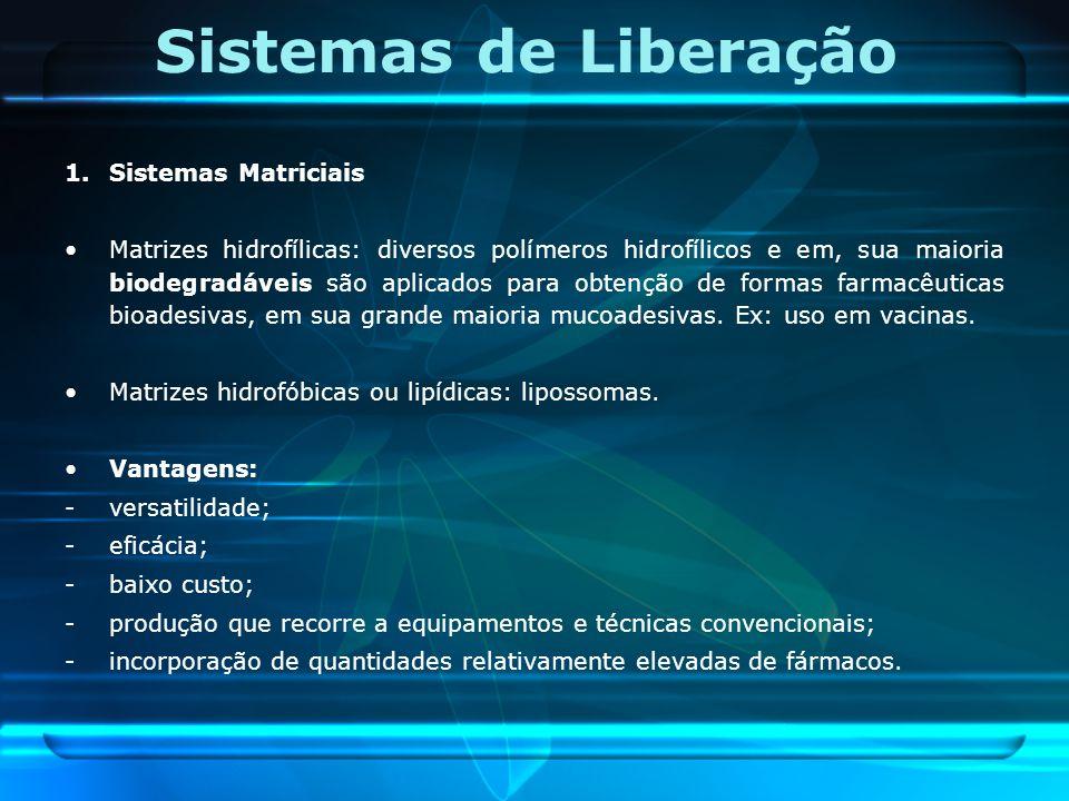Sistemas de Liberação 1. Sistemas Matriciais