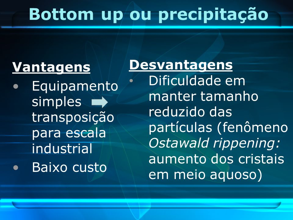 Bottom up ou precipitação