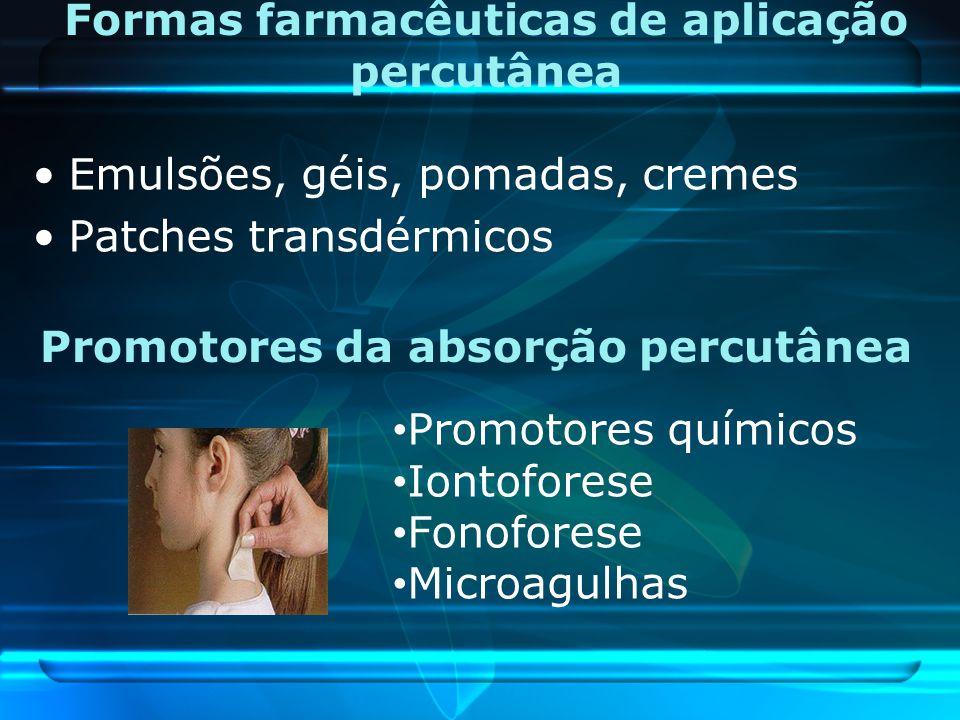 Formas farmacêuticas de aplicação percutânea