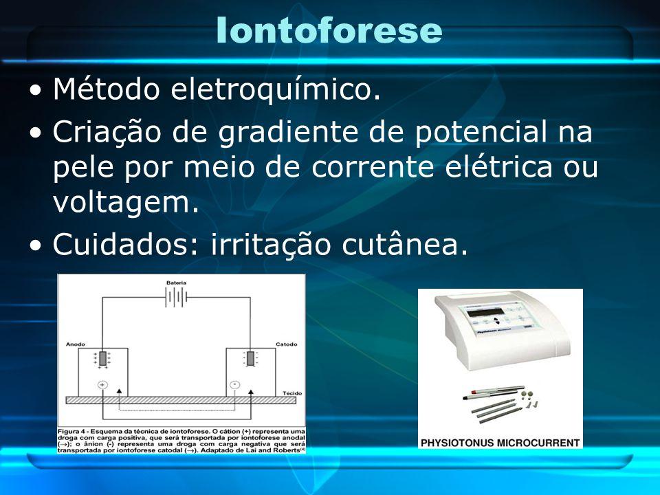Iontoforese Método eletroquímico.