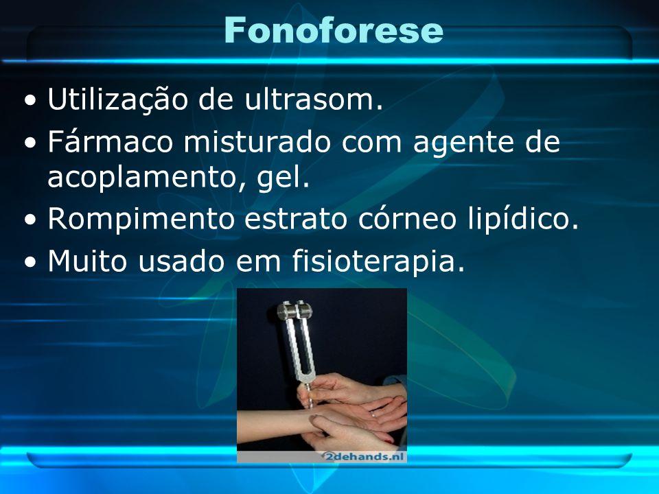 Fonoforese Utilização de ultrasom.