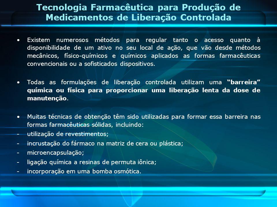 Tecnologia Farmacêutica para Produção de Medicamentos de Liberação Controlada