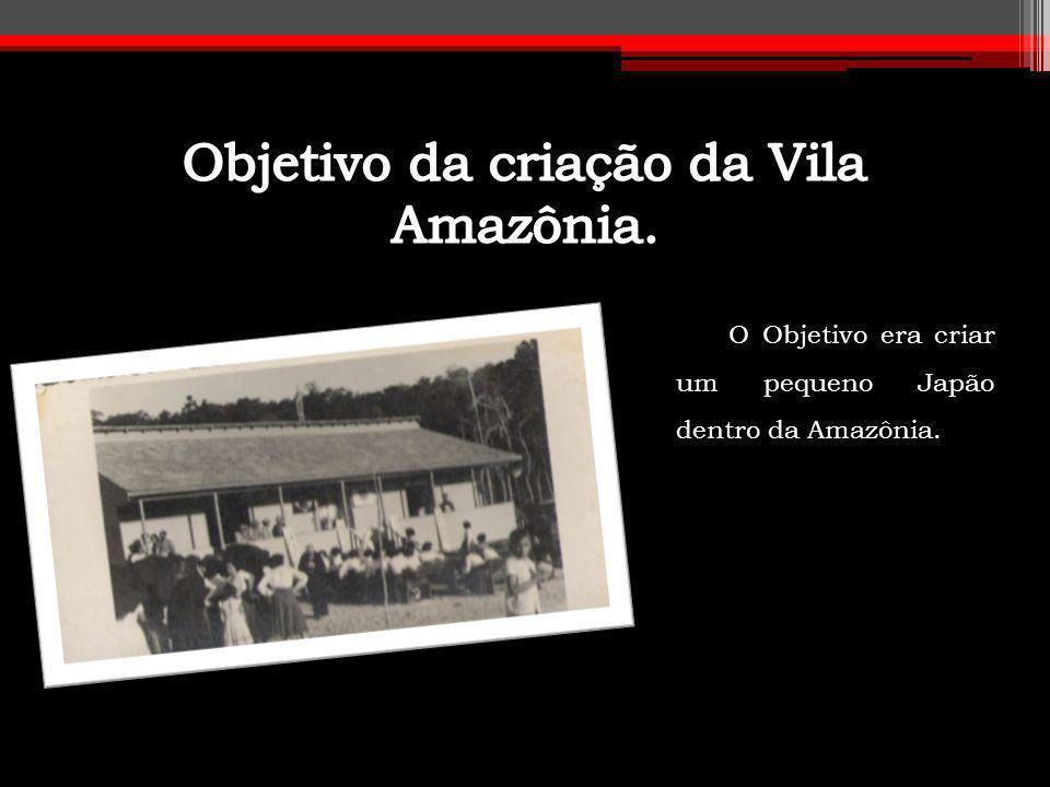 Objetivo da criação da Vila Amazônia.
